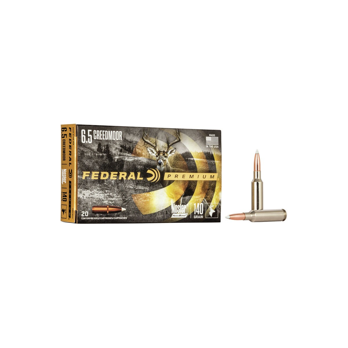Federal Nosler Accu Bond 6,5 Creedmoor