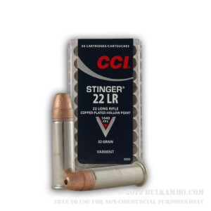 22LR  STINGER  HP  CCI